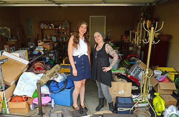 "Anna Estes and Erin Ek come across memorable items in their jobs with Prestige Estate Services. Ek says the thrill of going to estate sales is like ""Christmas every day."""