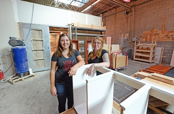 Michelle Anthony and Laura Casey have not felt any different at Martin Star Cabinetry and Design on West Main Street, though having two women woodworkers in the shop is an industry rarity.