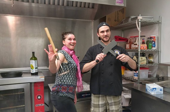 Rose & Eddie's Kristel and David Young are ready to take orders.