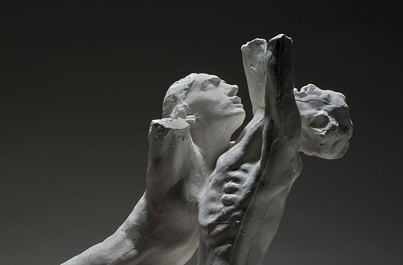 """Torso of the Centauress"" and ""The Despairing Young Man"" by Auguste Rodin."