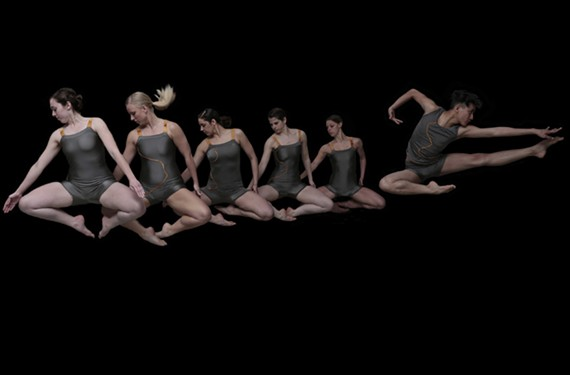 """Dancers Caitlin Cunningham, Jordan Glunt, Brittany Judge, Katie Branca, Heather Rhea and Egbert Vongmalaithong bring to life Starr Foster Dance Project's """"Page to Stage"""" series, which uses flash-fiction stories from across the country."""