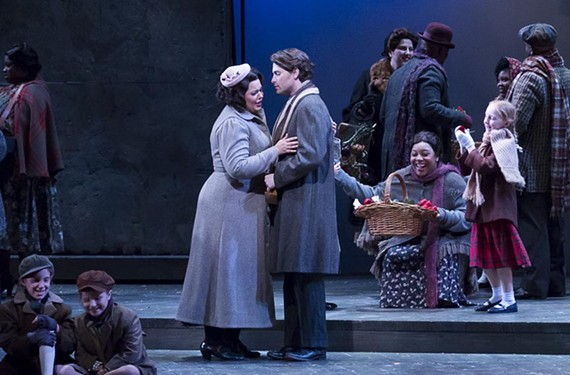 "Elaine Alvarez is Mimi and Jason Slayden plays Rodolfo in Virginia Opera's ""La Boheme."""