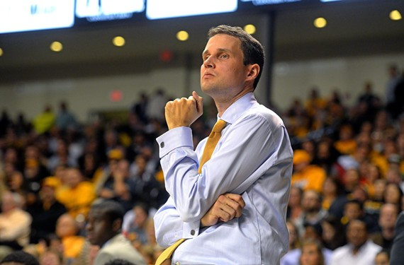 Virginia Commonwealth University men's basketball coach Will Wade watches his team play to victory Nov. 13 against Prairie View A&M University.