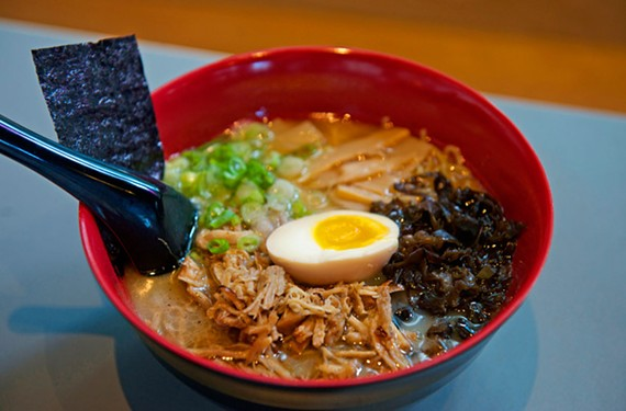 Shoryuken Ramen served up countless bowls — its tonkotsu ramen shiro is pictured here — on Franklin Street and proved that Richmonders couldn't get enough of noodles this year.