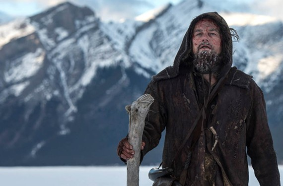 """Leo DiCaprio has a rough go of it as Hugh Glass in """"The Revanant"""" — a brutal outdoors revenge tale that might well earn Emmanuel Lubezki an unheard-of third Oscar in a row for cinematography."""