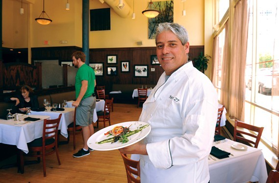 Chef Carlos Silva, pictured here at Bistro 27, will open the 1927 Cafe & Bakery in February.