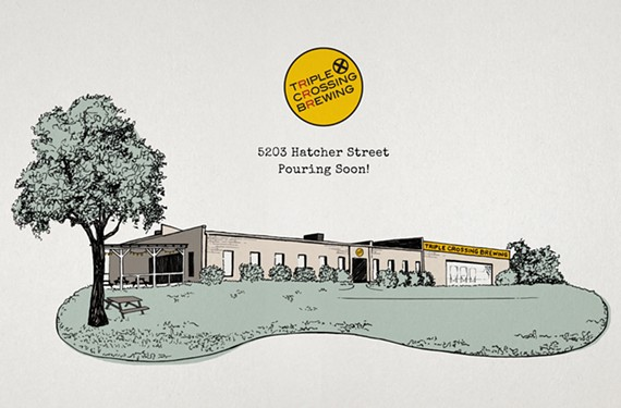 The future expanded Triple Crossing Brewing in Fulton.