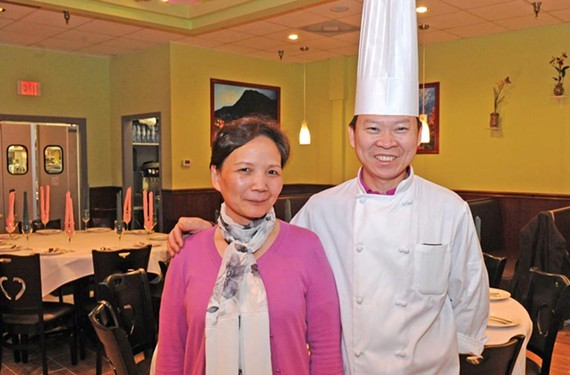 Peter Chang, pictured here with his wife, Lisa, is a finalist for the Oscars of the food world.