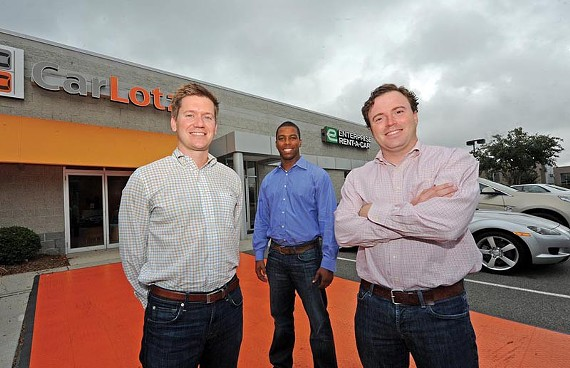CarLotz founders Will Boland, Aaron Montgomery and Michael Bor.