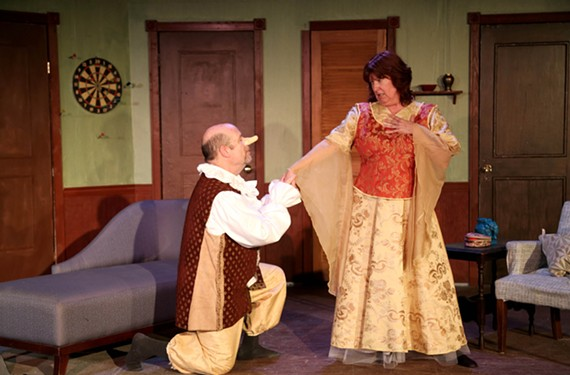 """Thomas Eichler as George and Kathy Northrop Parker as Charlotte in the comedy """"Moon Over Buffalo"""" which is set in that city in 1953."""