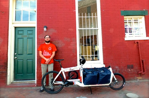 Frank Bucalo wants his delivery business, Quickness RVA, to bring Richmond closer to bicycle-oriented cities such as Portland, Oregon, Copenhagen, Denmark, and his former turf in Brooklyn, New York.