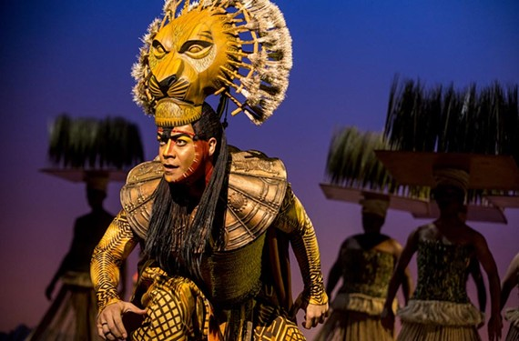 "Gerald Ramsey gives a tender performance as the lion Mufasa, prideful father to the young Simba in one of Broadway's biggest ever touring acts, ""The Lion King."""