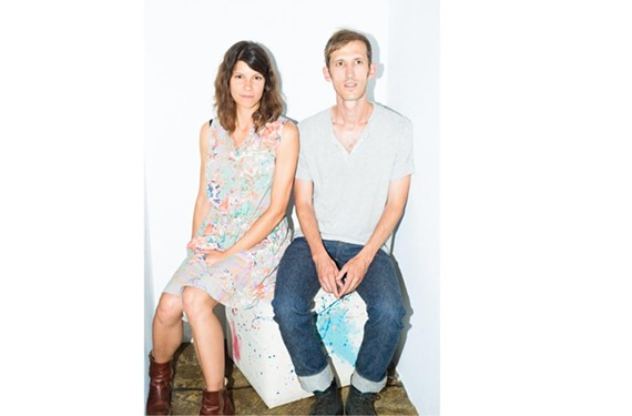 Daniel and Lauren Goans of the Charlottesville band Lowland Hum say they love playing Richmond and have been working with Shockoe Atelier denim on their look.