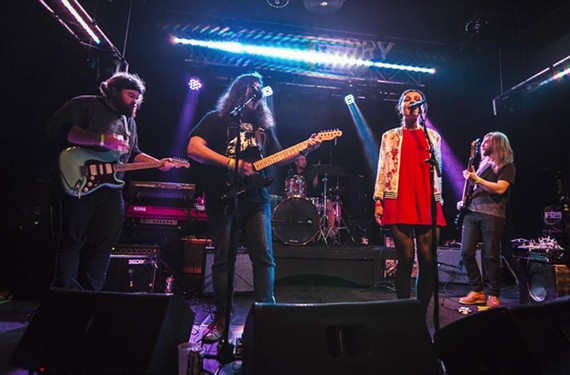 Hailed by Lucy Dacus as one of her favorite local bands, Spooky Cool members — Richard Bollinger (guitar), Zac Hryciak (guitar and vocals), Lee Spratley (drums), Paula Lucy (vocals) and Sean T. Williams (bass) — perform at the Broadberry.