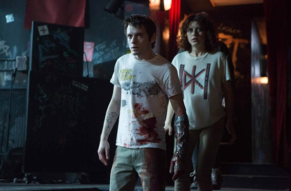 "Anton Yelchin as Pat and Alia Shawkat as Sam in the thriller ""Green Room"" directed by Brooklyn-based filmmaker Jeremy Saulnier, who also made ""Blue Ruin;"" his earlier film was shot partly in downtown Richmond."