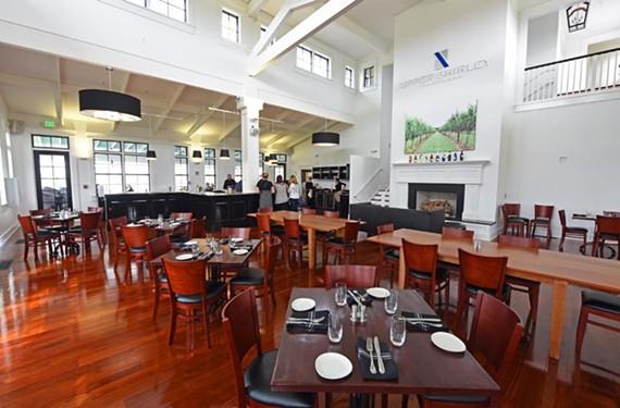 Upper Shirley Vineyards' restaurant and tasting room.