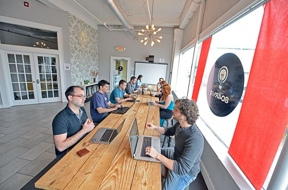 Co-workers share space, a beer tap, Wi-Fi and good vibes at 804RVA.