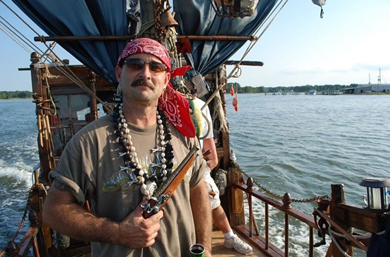 A retired firehouse captain, Dan Corder, has embarked on a second career of building pirate ships at his Northern Neck home.