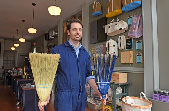 Drew Dayberry sells home goods with a vintage look and a reputation for quality at Roaring Pines.