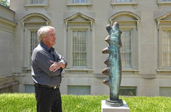 "VMFA recently installed Richmond artist Rubin Peacock's ""Untitled Totem ' in its sculpture garden near the Stan and Dorothy Pauley Center."