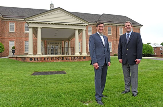 Eric and Carey Bliley are part of Bliley Funeral Home's current generation. The business has been going strong for more than 140 years and is one of Richmond's oldest businesses.
