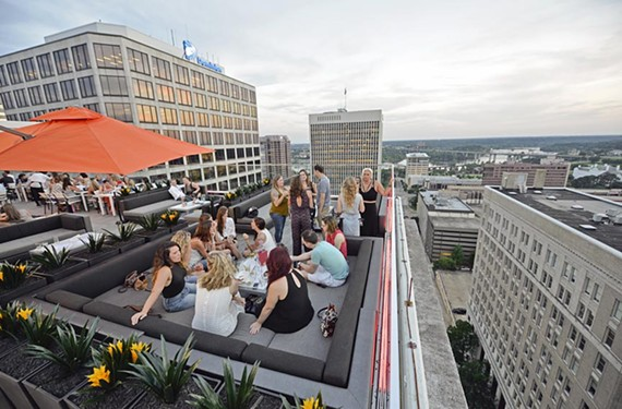 The latest bar in the sky to enter the race, Kabana Rooftop is also a full-service restaurant with indoor and outdoor dining.