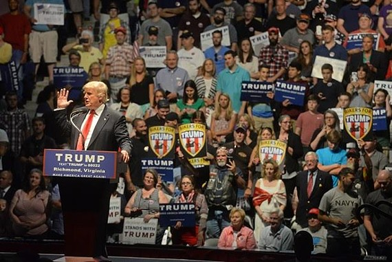 The Trump rally at the Richmond Coliseum.