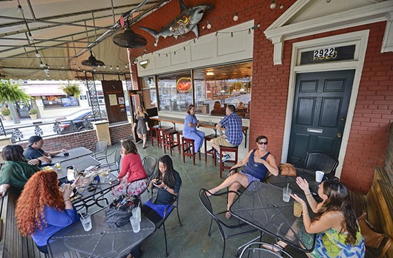 The patio at Sheppard Street Tavern is a stalwart of the Devil's Triangle, an oasis for smokers, drinkers and dog owners.