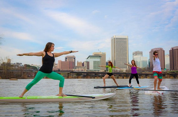 Paddle your way up to a new kind of yoga with Riverside Outfitters.