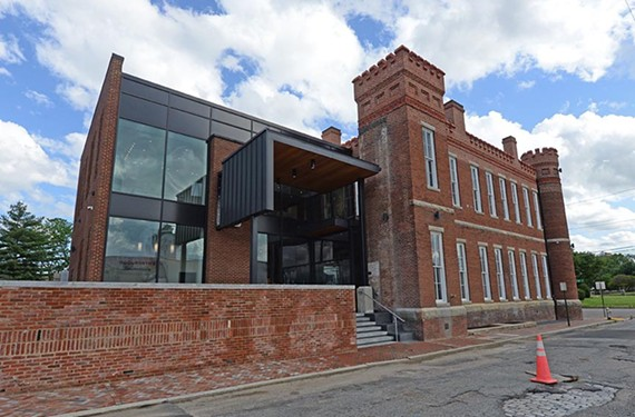 The back view of the newly renovated Black History Museum and Cultural Center of Virginia, which held a grand opening on May 5.