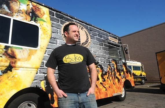 Patrick Harris of Boka Tako is getting ready for the Central Virginia Food Truck Rodeo on South Side.