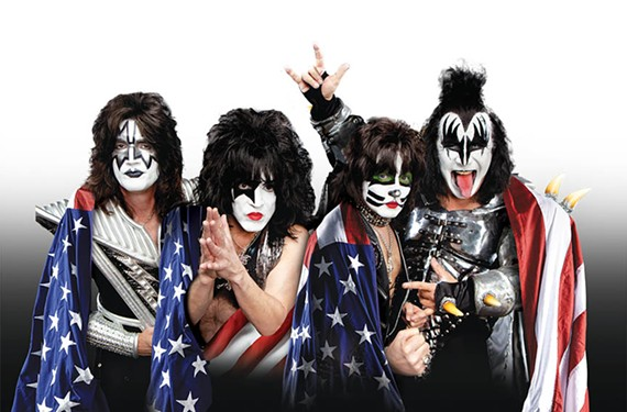 The current Kiss lineup includes lead guitarist Tommy Thayer, original guitarist Paul Stanley, drummer Eric Singer, and original bassist and founder Gene Simmons.