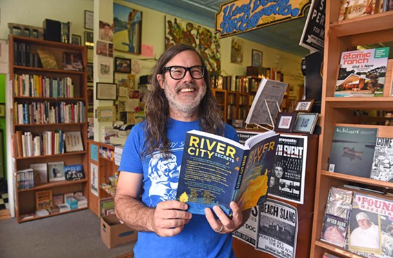 "Chop Suey Books owner Ward Tefft is the proud publisher of several new works by Richmond authors, including ""River City Secrets: Stories from Richmond"" and ""Artists Coloring Book: Volume 2"" by Chuck Scalin."