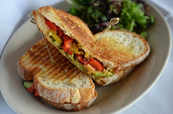 Before it closed, Bella's Restaurant used to serve colorful grilled vegetable panini in Richmond.