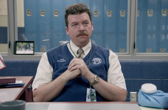 "Fredericksburg's Danny McBride plays Neal Gamby in the HBO comedy, ""Vice Principals."" McBride and writing partner Jody Hill will be presenting the show in Charlottesville this weekend."