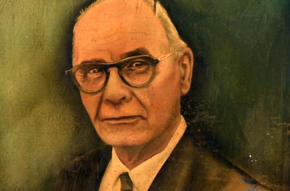 Portrait of Judge Leon M. Bazile by John Gabbert.