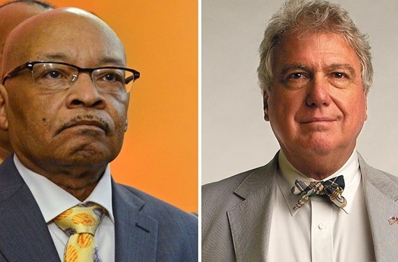 Left: Former Richmond Mayor Leonidas B. Young II. Right: Former Times-Dispatch publisher J. Stewart Bryan III.