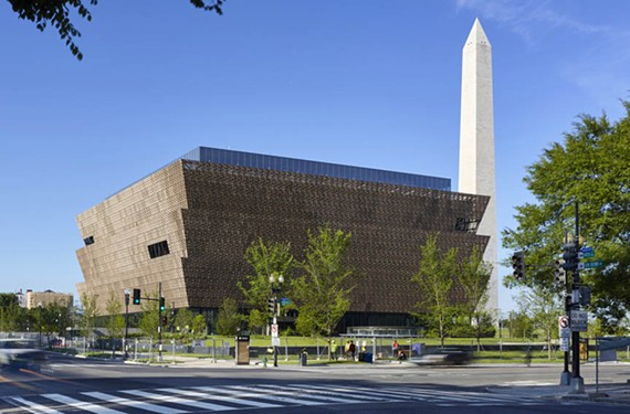 The new National Museum of African-American History and Culture, designed by David Adage and adjacent to the Washington Monument, adds bold contemporary flair to the National Mall.