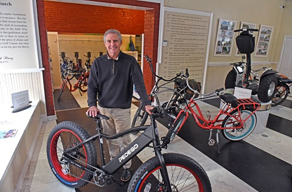 At RVA on Wheels in Shockoe Slip, owner Buck Ward offers bikes with an electric boost for sale or rent.
