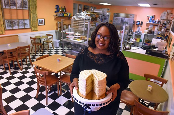 Alicia Darnell and her sky-high cakes are back after a year-and-a-half absence. She's also expanding a Peach in a Pear Tree's hours to serve breakfast.