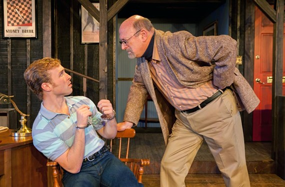 Caleb Wade as Clifford Anderson and Richard Travis as Sydney Bruhl deliver compelling performances in the latest production at Swift Creek Mill Theatre.