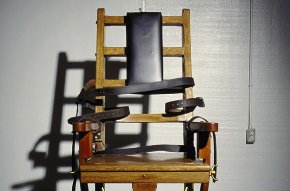 An undated photo of the electric chair at Greensville Correctional Center near Jarratt, which was moved there from Richmond after the Virginia State Penitentiary was demolished.