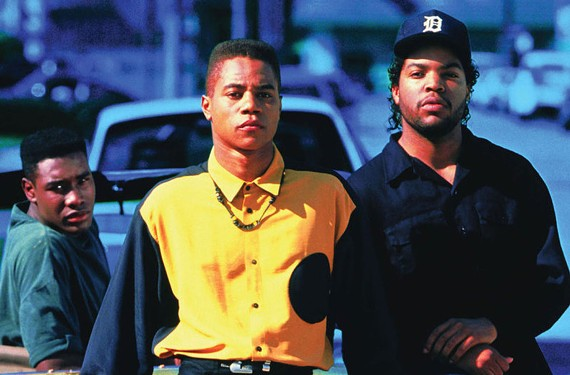 Boyz N The Hood, made by John Singleton in 1991, was the story of three friends -- played by(from left) Morris Chestnut, Cuba Gooding, Jr. and Ice Cube – growing up in South Central Los Angeles.