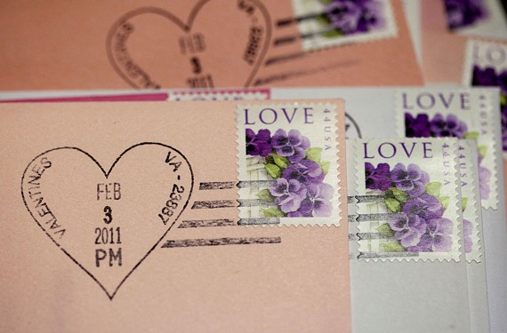 Out-of-towners and out-of-staters visit each year to get the community's unique postmark for their Valentine's Day mailings.