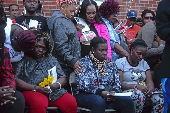 On Monday evening over 100 people gathered in Mosby Court to mourn the deaths of Shaquenda Walker and her mother Deborah Walker. They were found fatally shot Thursday in what police are calling probable double homicide/suicide.
