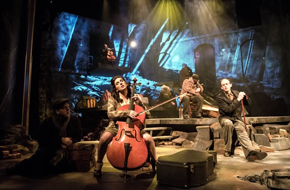"""Veteran stage actress Eva DeVirgilis plays a struggling German cellist named Lottie in novelist David L. Robbins' well-produced play, """"The End of War,"""" which is his best yet."""