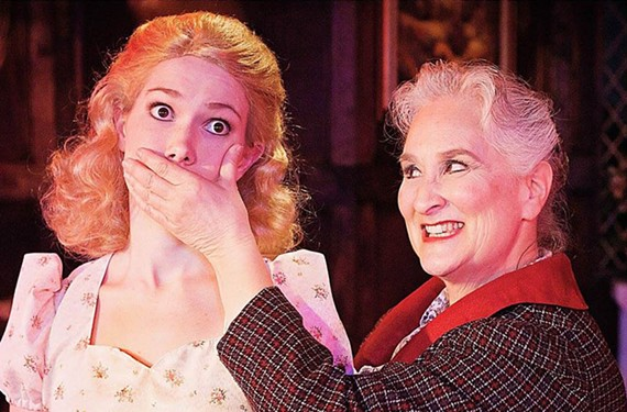 "Mara Elizabeth Barrett and Jacqueline Jones are in ""Something's Afoot,"" a hit-and-miss musical parody of the classic Agatha Christie whodunit."