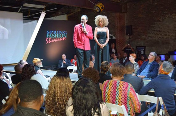 Tim Reid shared the stage with Hampton Roads model and fashion blogger Salome Autolino at last year's fashion showcase.