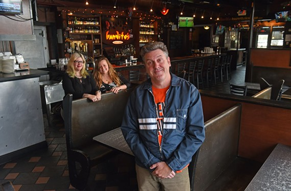 Bandito's honcho Sean McClain is holding party to celebrate his restaurant and punk venue's 20th anniversary Saturday, April 8. Also pictured are Jeri Winn and Jamie Moore.