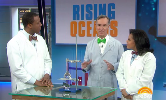 A screenshot of Bill Nye on the Today Show in April 2017.